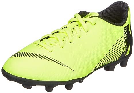c116d53f4175f Amazon.com: Nike JR Mercurial Vapor 12 Club GS MG Soccer Cleat (Volt ...