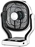 Gadget-Wagon Sonashi 7inch Rechargeable Mini High Speed Table Fan with Flash Emergency Light (Black)