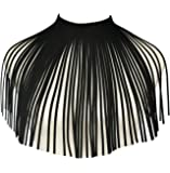 (Black/Style-A) - Mrotrida Girls Bib Necklace Fashion Velvet Tassels Fringe Statement Necklace Black