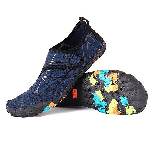 c88de7f699d LZ Mens Womens Water Shoes Quick-Dry Breathable Barefoot Aqua Socks Beach  Swim Surf Hiking Shoes for Running Walking Kayaking Yoga