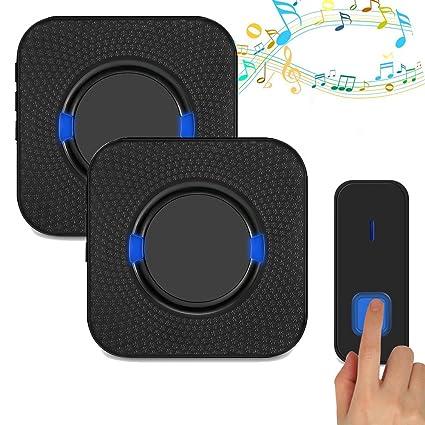 DIWUER Wireless Doorbell 1000 Feet Range Waterproof Doorbells With 52 Chimes,  5 Level Volume 2
