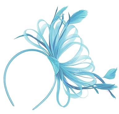 291eabd1c987d Caprilite Large Wedding Races Party Fascinator Net Hat and Feathers