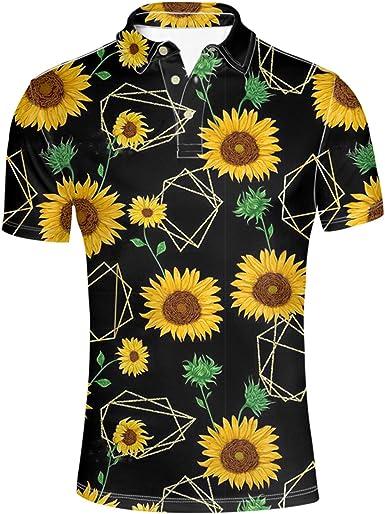 Men/'s Daisy Print Floral Shirt Slimfit Fine Cotton Long Sleeve White Blue Yellow