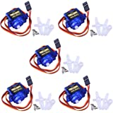 Longruner SG90 Micro Servo Motor 9G RC Robot Helicopter Airplane Boat Controls KY66 (KY66-5)