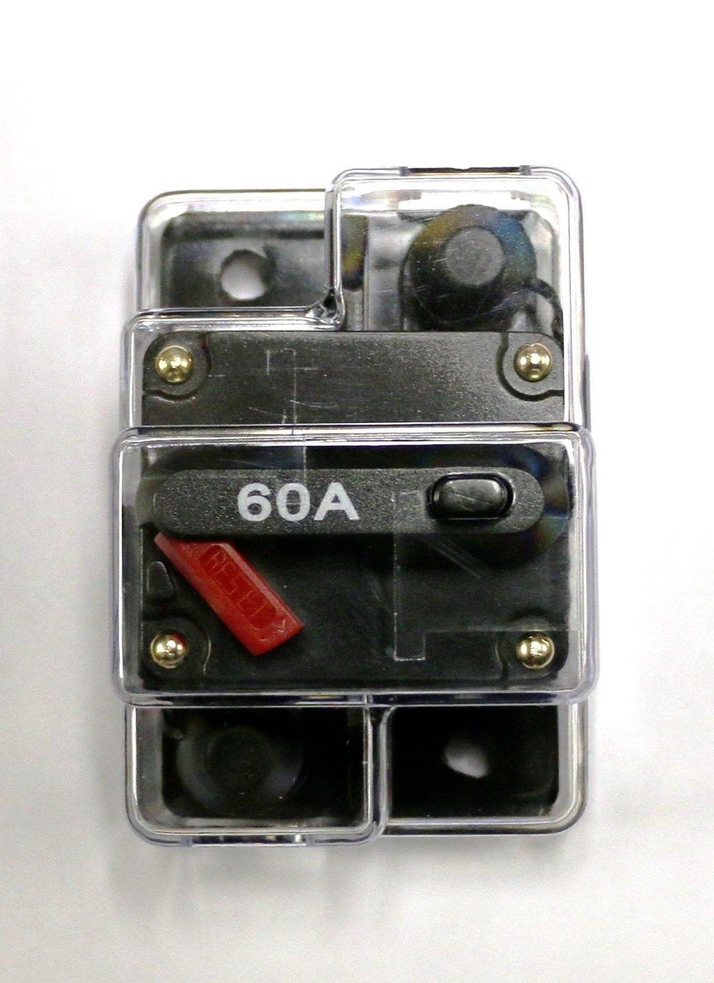 Amazon.com : Caliber CB60 60amp Marine Grade Circuit Breaker 60a w ...