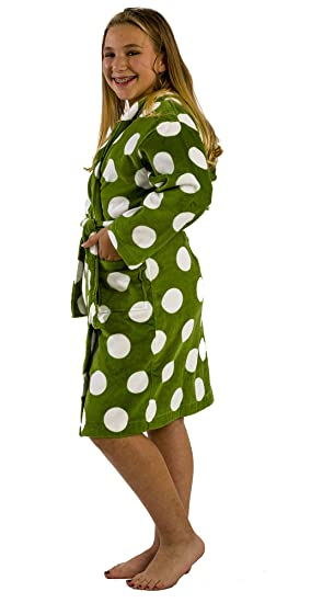 332b8d2a01ee Amazon.com  Polka Dot Terry Cloth Cotton Hooded robes bathrobes for ...