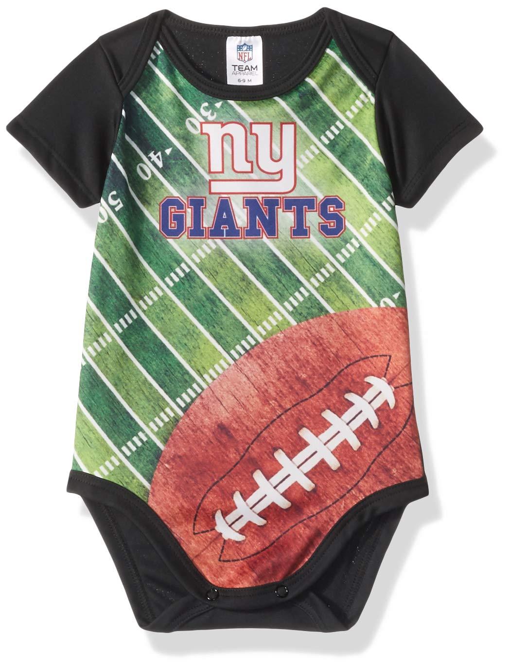 Gerber 子供服 NFL ニューヨークジャイアンツ ボーイズ 2018半袖フィールドボディスーツ、ブラック、9ヶ月   B07BS4176B