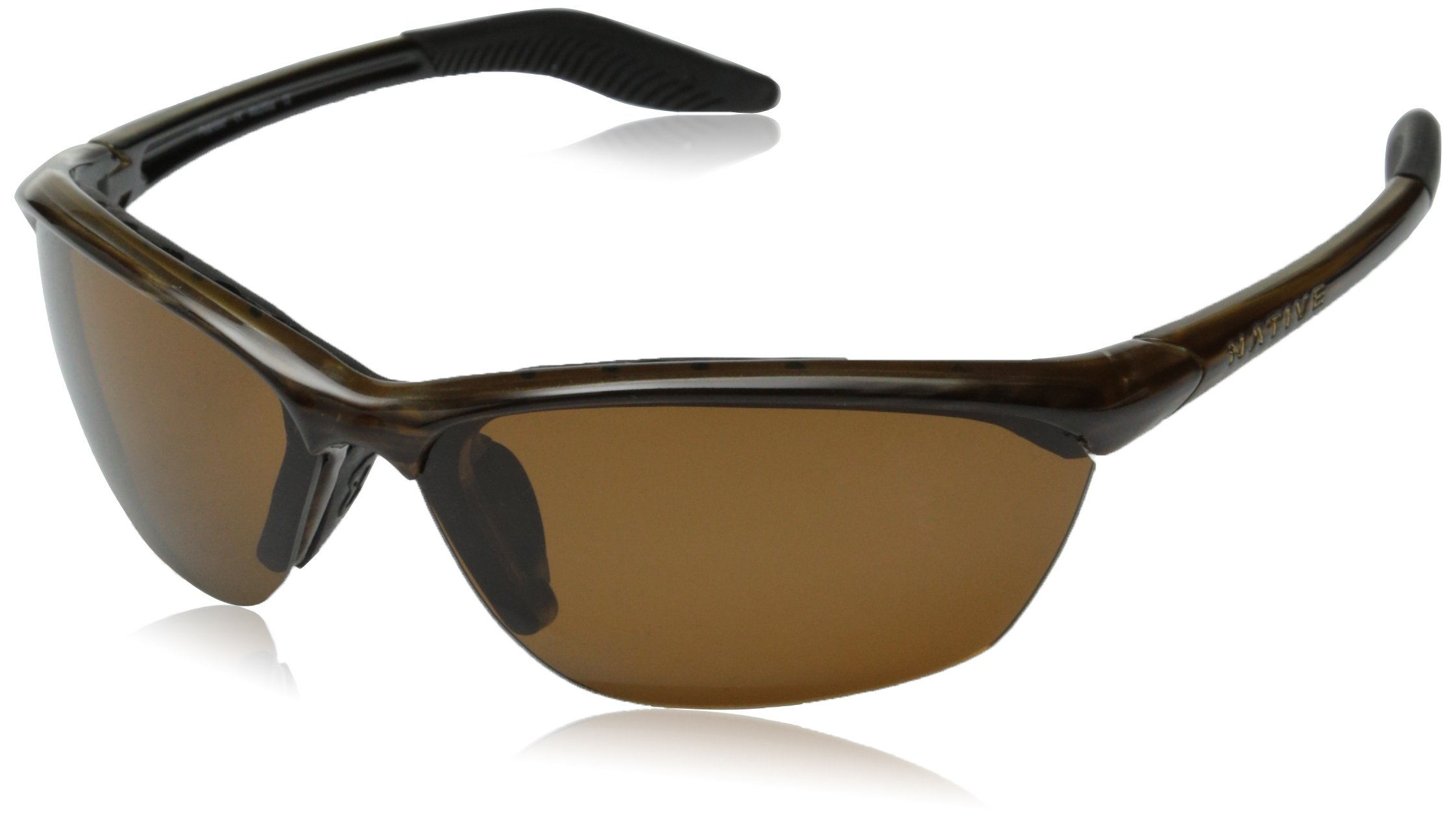 Native Eyewear Hardtop Sunglasses, Wood with Brown Lens