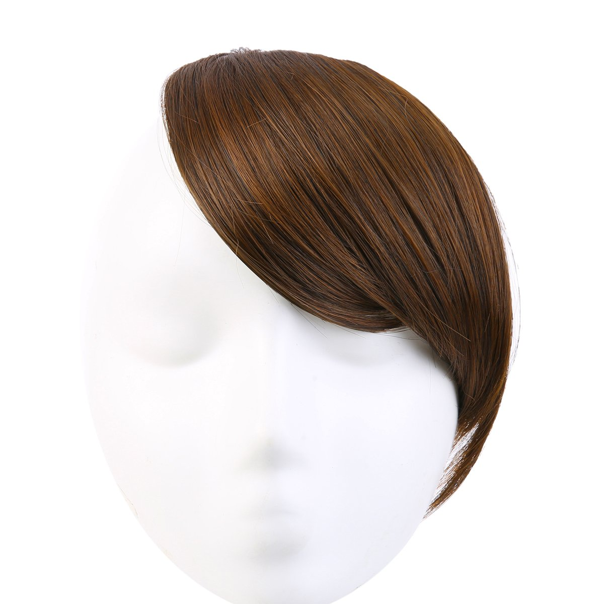 SARLA Hair Synthetic Bang Hairpieces Clip-in Side Swept Bang/Fringe Extensions(B2#4/30)