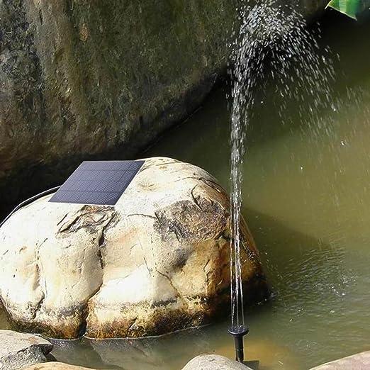 Haibei Bomba Fuente 7V/1.5W Solar Energía Solar Fuente del Jardín Bomba de Agua - para Fuentes, Cascadas y Juegos de Agua: Amazon.es: Jardín