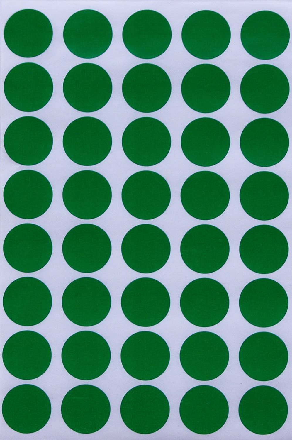Amazon com round sticker colored dot stickers 19mm 3 4 inch green 280 pack by royal green office products