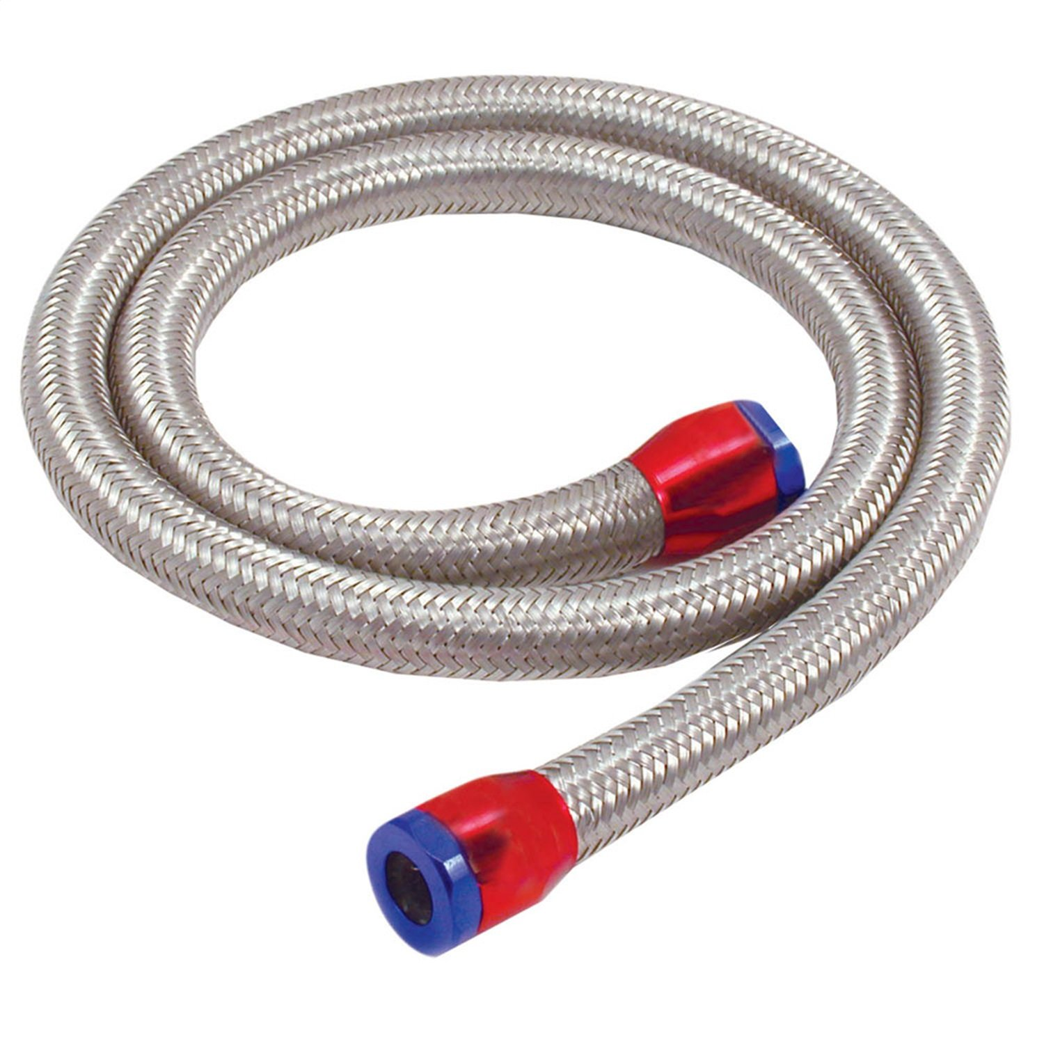 Spectre Performance (29390) 5/16'' x 3' Stainless Steel Fuel Line Kit with Clamps