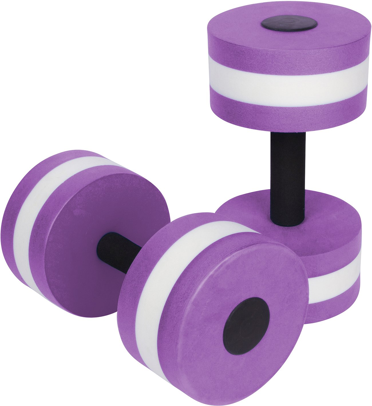Trademark Innovations Aquatic Exercise Dumbells - Set of 2 Foam - for Water Aerobics (Purple)