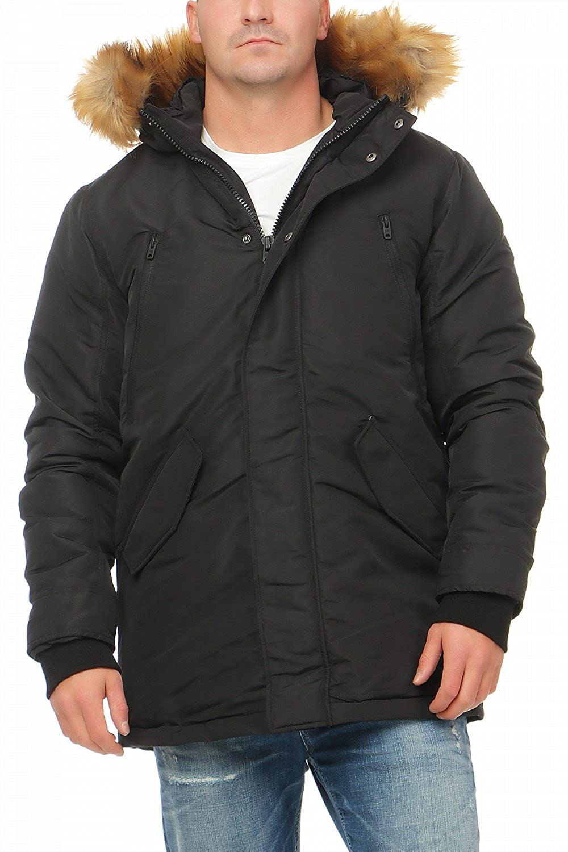 9b0093d35bb06 Jack and Jones Peak Parka Homme Noir Taille XXL  Amazon.fr  Vêtements et  accessoires