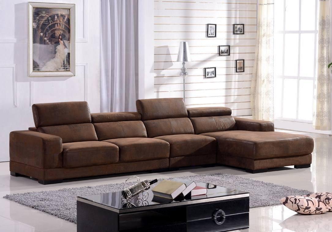 Mikrofasersofa Eckcouch Ecksofa Couch Sofa Garnitur Eckgruppe 2017-R-VF03