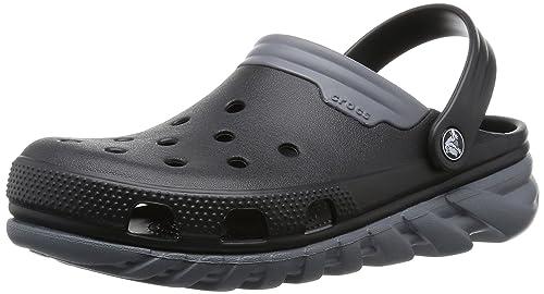 f4151933ce57d Crocs Mens Duet Max Clog Graphite Volt Green EU45.5  Crocs  Amazon ...