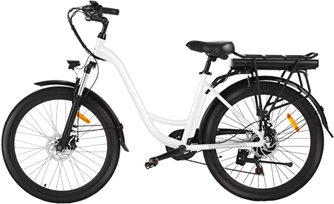 "Speedrid ebike 26"" Electric City Bike with Removable 12.5Ah Lithium-ion Battery, Low Frame Commuter e-bike, Electric Bicycle for Women/Men/Teens/Adults."