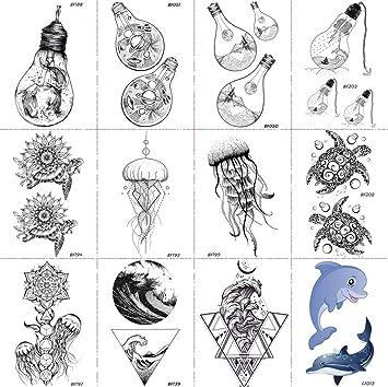 Amazon Com 12 Pieces Lot Creative Bulb Water Transfer Tattoos