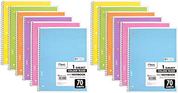 70 Sheets Loyal Army 12-PACK Mead Spiral Notebook College Ruled 1 Subject