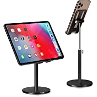 Phone Holder, Tablet Stand, Abetcabe 1 Pack Angle Height Adjustable Cell Phone Holder Tablet Stand for Desk Compatible…