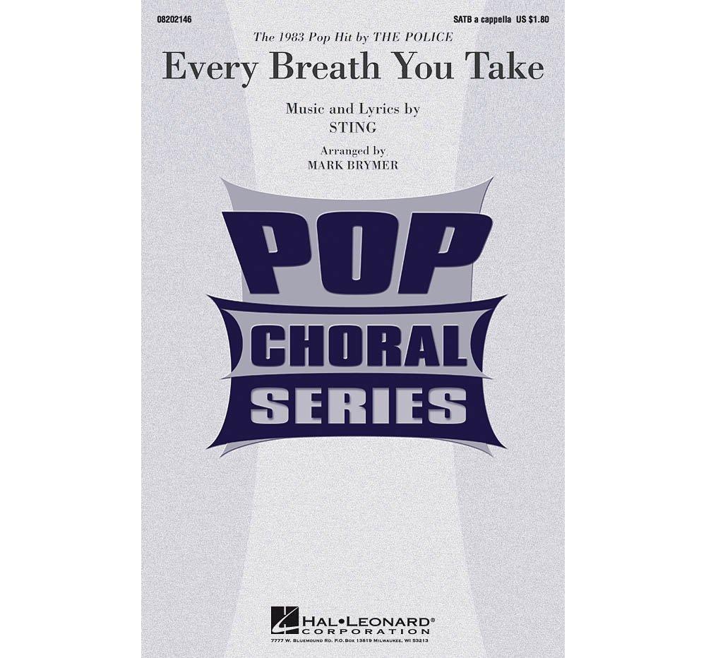 Hal Leonard Every Breath You Take SATB a cappella by Police