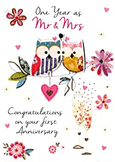 1st wedding anniversary card on your first anniversary first wedding anniversary greeting card second nature just to say cards m4hsunfo