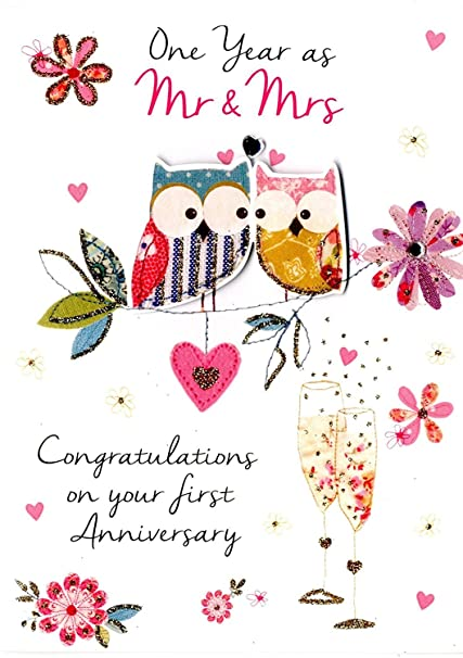 Amazon just to say first wedding anniversary greeting card just to say first wedding anniversary greeting card second nature just to say cards m4hsunfo