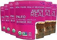 Julie's Real Organic Paleo Baking Mix | Caramel Vanilla Blondie Mix | 6-Pack | Vegan, Keto, Diabetic Friendly | No Cane Sugar