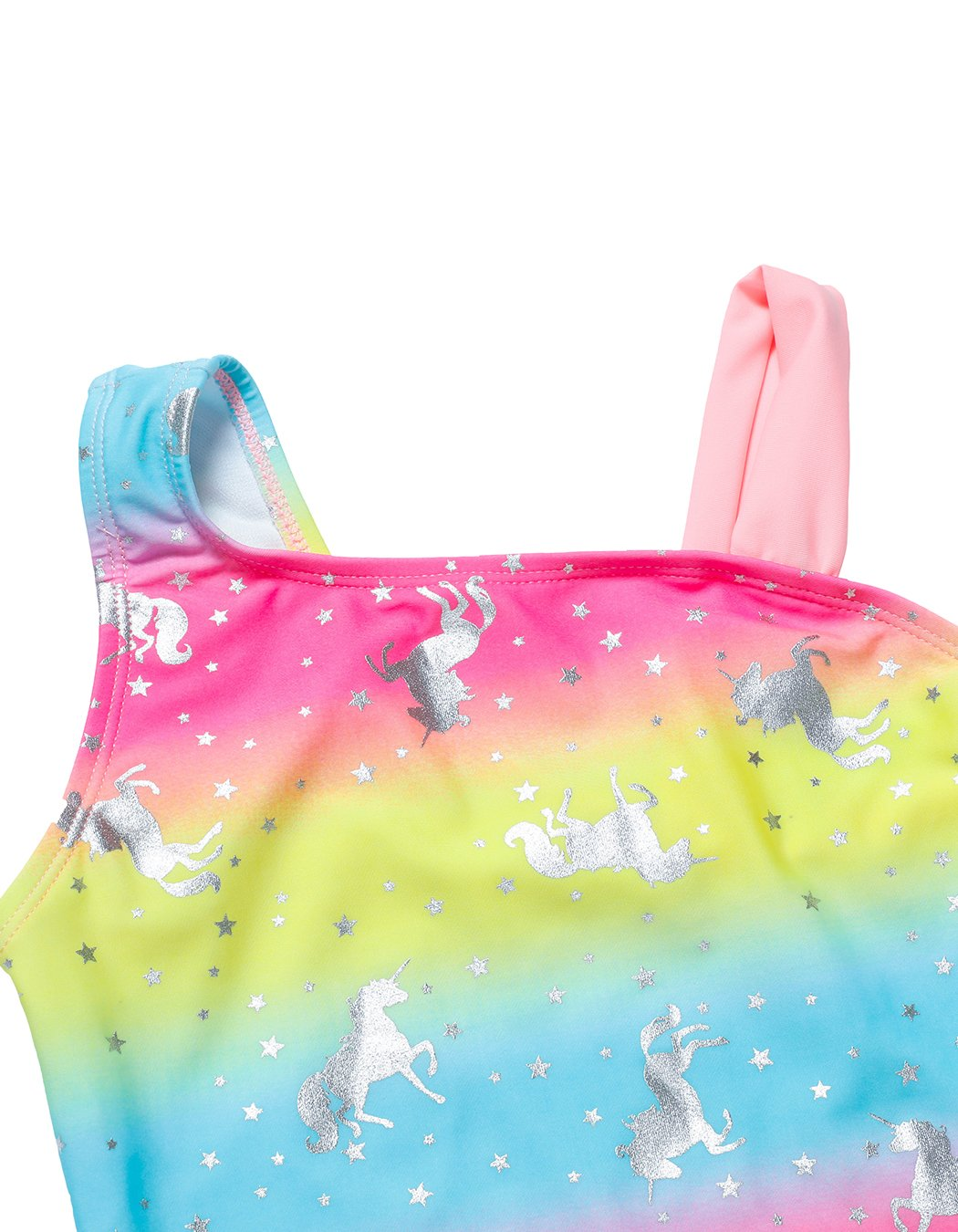 iDrawl Rainbow Swimwear for Girls One Piece, Hot Silver Unicorn Beach Sport Swimming Suits 7