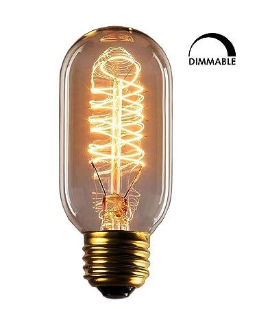 Edison Style Bulb Ephvan T45 Vintage Decorative Light Bulb E27 Base Incandescent Dimmable