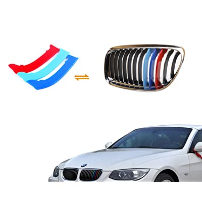 Jackey Awesome Exact Fit ///M-Colored Grille Insert Trims For 2009-2012 BMW E90 E91 3 Series 325i 330i 335i 328i Regular Kidney Grill (For BMW 2009-2012 3 Series,12 Beams): Automotive
