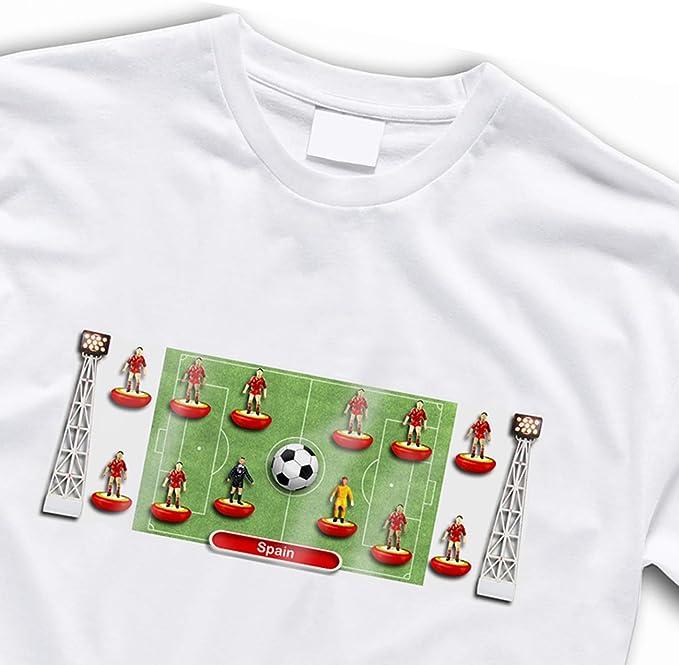 España de fútbol camiseta de estilo Retro Subbuteo, algodón ...