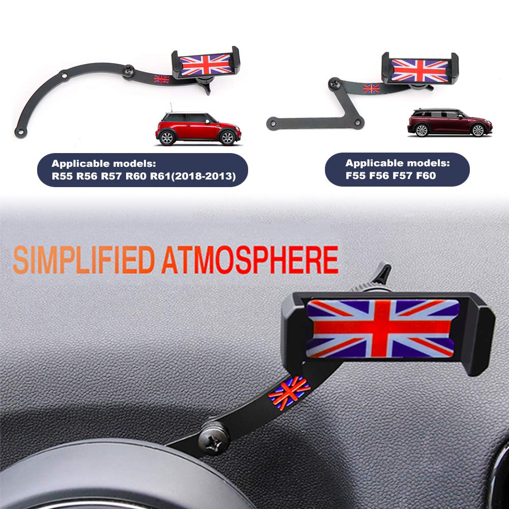 PGONE Behind Tachometer Mount Smart Phone GPS Mounting Design Holder Kit for Mini CooperF54 F55 F56 F57 F60 Union Jack (Red & Blue Union Jack Flag Style) by PGONE (Image #4)