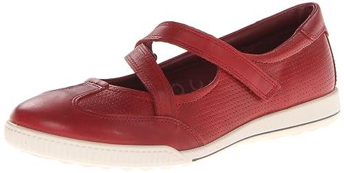 Ecco Crisp Black Feather Crisp Cross Strap - Mocasines de cuero para mujer, color rojo, talla 38: Amazon.es: Zapatos y complementos