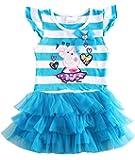 HKD80 Little Girls Summer Peppa Pig Lapel Rainbow Color Dress