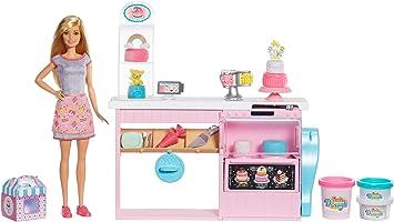 Barbie y su pastelería, muñeca con cocina y accesorios, regalo para niñas y niños 3-9 años (Mattel GFP59): Juguetes y juegos - Amazon.es