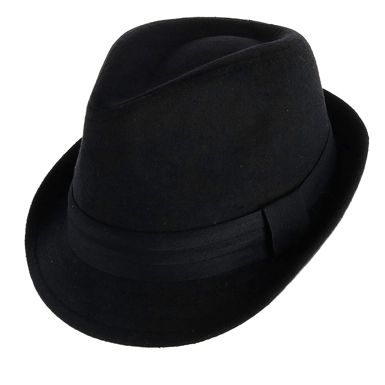 c7a0a62de26d1 WESTEND Unisex Fedora with Large Black Band at Amazon Men's Clothing store: