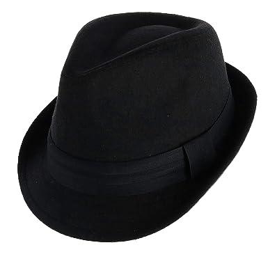 b466fa4162604b WESTEND Unisex Fedora with Large Black Band at Amazon Men's Clothing store: