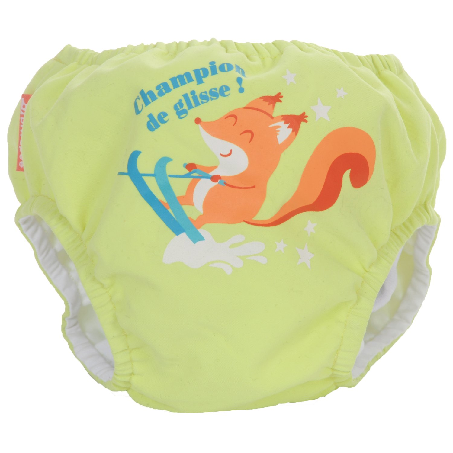 Piwapee - MAILLOT COUCHE SWIM+ BB NAGEUR ECUREUIL VERT ANIS 4-8KG 3700465372038