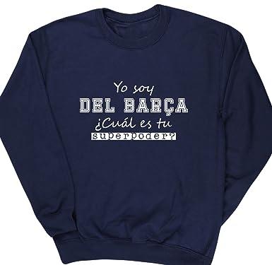 HippoWarehouse Soy del Barça, ¿Cuál es tu Superpoder? jersey sudadera suéter derportiva unisex: Amazon.es: Ropa y accesorios