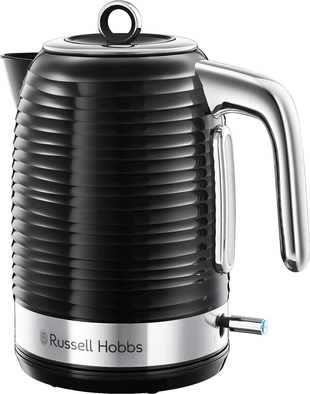 Russell Hobbs 24361 Inspire Kettle elé ctrico, 3000 W, 1,7 litros, negro con Cromo Acentos