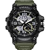 PALADA Men's T1617G Sport Wrist Watch Quartz Dual Movement with Analog-Digital Display and Backlight