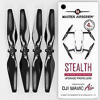 Hélices modernisées MAS pour drone DJI Mavic AIR de couleur noire, un kit de 4 pièces