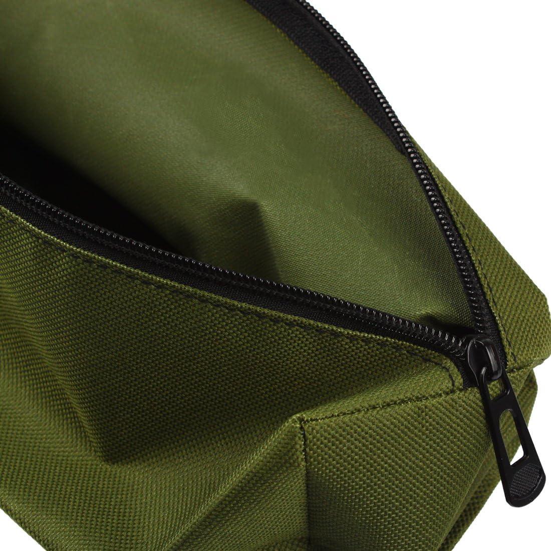 Organizador de Almacenamiento de Herramientas Multiusos WJSNB-01 Bolsa de Tela Oxford Peque/ña Verde Larcele Bolsa de Herramientas con Cremallera