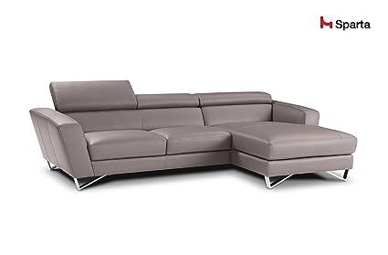 Amazon.com: Sparta Fabric Sectional Sofa By Nicoletti (Light ...