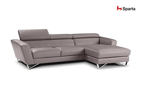 Sparta Fabric Sectional Sofa By Nicoletti (Light Grey)