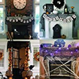 Bribass Halloween Fireplace Mantle Scarf, Spiderweb Lace Cobweb Cover for Halloween Party Decoration