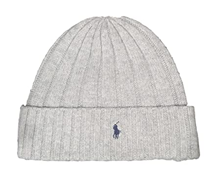 9f34ba3f9 Polo Ralph Lauren Men`s Signature Merino Cuffed Beanie: Amazon.ca ...