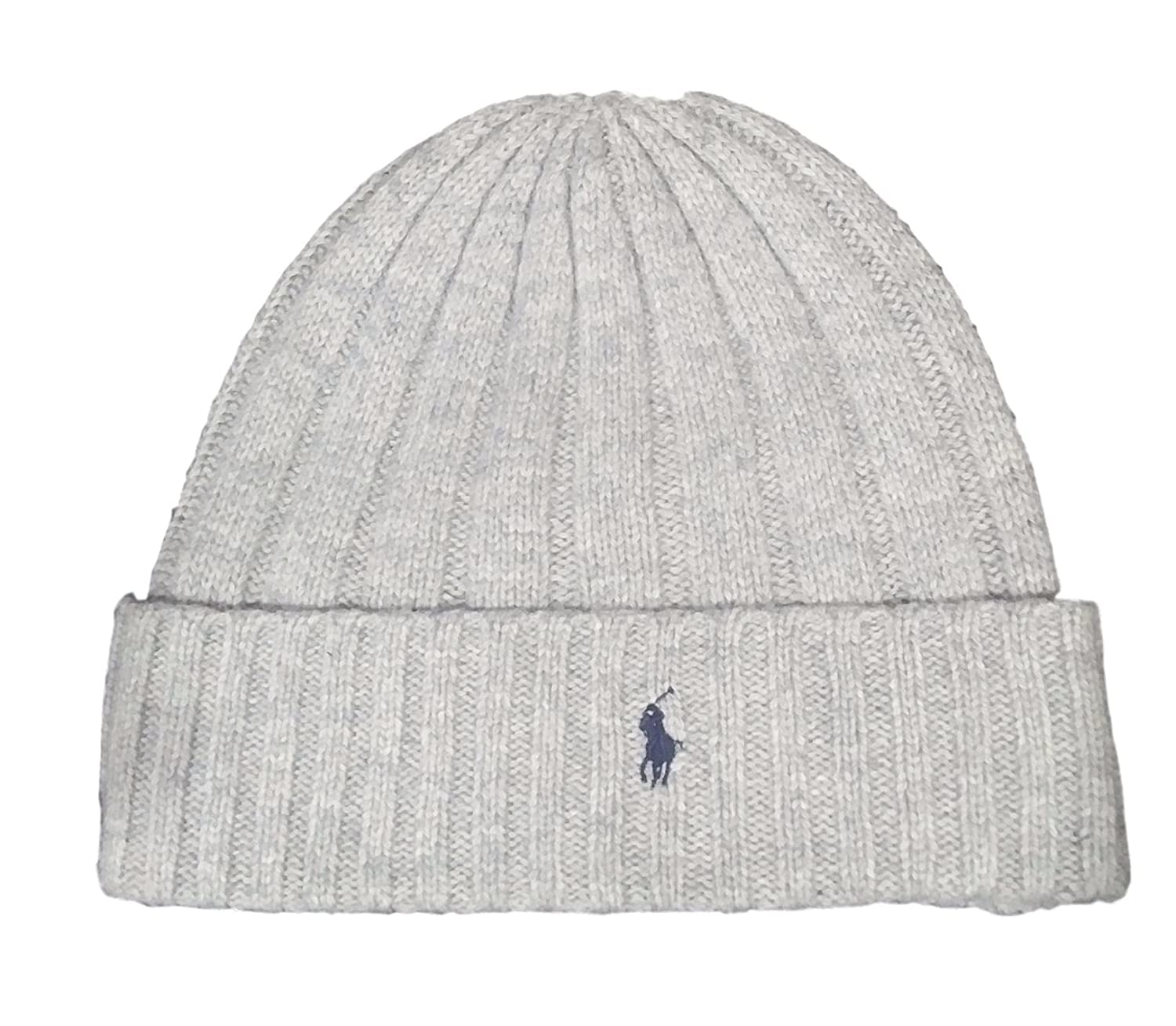 064da92ec45d99 Polo Ralph Lauren Unisex Lambswool Skullie Cap Light Gray Beanie Hat Wool/Nylon  OS: Amazon.co.uk: Clothing