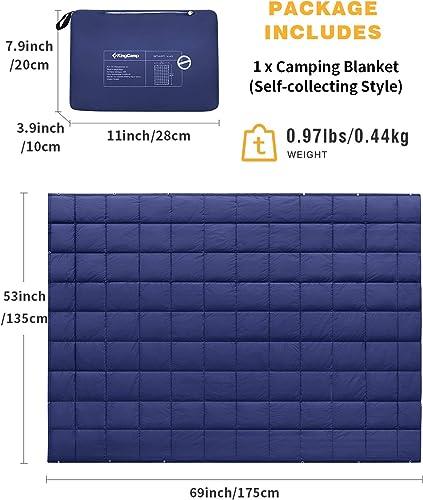 KingCamp Multipurpose Packable Lightweight Travel Down Alternative Blanket